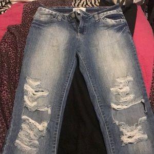 Denim - cut jeans